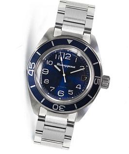 "Automatik watch ""KOMANDIRSKIE K-03"" with stainless steel bracelet by VOSTOK, stainless steel, brushed, ø42mm"