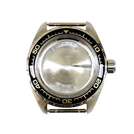 Case 020 for VOSTOK KOMANDIRSKIE watches, Stainless steel, brushed, complete