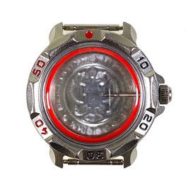 Gehäuse 816 für VOSTOK KOMANDIRSKIE Uhren von VOSTOK, Titancarbonitrid beschichtet, poliert, komplett