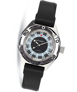 Russian automatic diver watch VOSTOK AMPHIBIA K-67 by VOSTOK, 200m water proof, stainless steel, polished, ø41mm