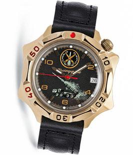 Armbanduhr KOMANDIRSKIE von VOSTOK, Titannitrid beschichtet, poliert, ø40mm
