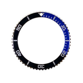 Bezel with black /blue insert for VOSTOK KOMANDIRSKIE watches, stainless steel, ø40mm