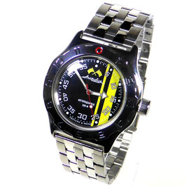 "Automatik diver watch ""AMPHIBIA RALLEY"" K-10 by VOSTOK, 200m water proof, stainless steel, polished, ø42mm"