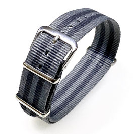 18mm NATO strap for VOSTOK watches, grey dark grey, NATO16-18mm