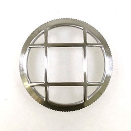 Bezel with protective grille for Russian VOSTOK AMPHIBIA and KOMANDIRSKIE watches, stainless steel, brushed, LÜ-MAS-08