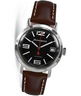 Armbanduhr KOMANDIRSKIE 1965 mit Glasboden von VOSTOK, Edelstahl, poliert, ø39mm