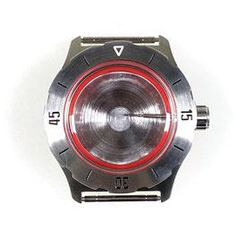 Case 350 for VOSTOK KOMANDIRSKIE watches, stainless steel, brushed, complete