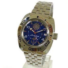 AMPHIBIA SAILOR im 710-er Gehäuse von Vostok-Watches24, Edelstahl, poliert, ø41mm