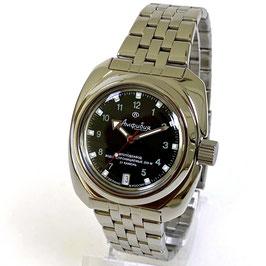 AMPHIBIA Automatikuhr mit Glas - Boden und neutraler Lünette von Vostok-Watches24, Edelstahl, poliert, ø41mm