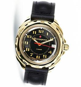 Armbanduhr KOMANDIRSKIE von VOSTOK, poliert, Titannitrid beschichtet, ø40mm