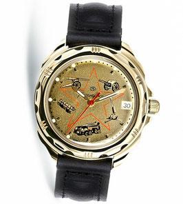 Armbanduhr KOMANDIRSKIEvon VOSTOK, poliert, Titannitrid beschichtet, ø40mm