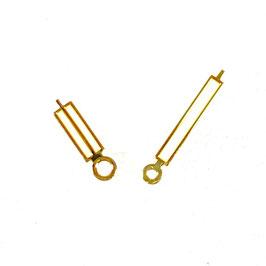 Goldene Paddelzeiger New Style mit SuperLumiNova für AMPHIBIA Uhren von Vostok