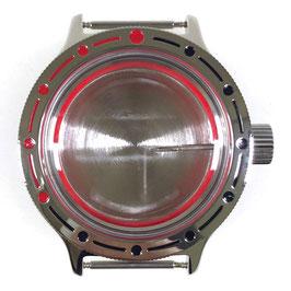 Gehäuse 420 für VOSTOK AMPHIBIA Uhren von VOSTOK, Edelstahl, poliert, komplett