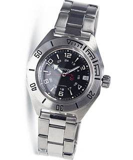 Russian automatic watch VOSTOK KOMANDIRSKIEK-65 by VOSTOK, stainless steel, brushed, ø42mm