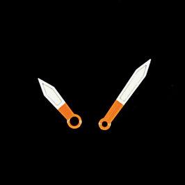 Orange - weiße Zeiger mit SuperLumiNova für AMPHIBIA und KOMANDIRSKIE Uhren von VOSTOK