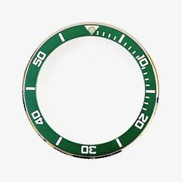 Bezel with green insert for VOSTOK KOMANDIRSKIE watches, stainless steel, LÜ-INS-64