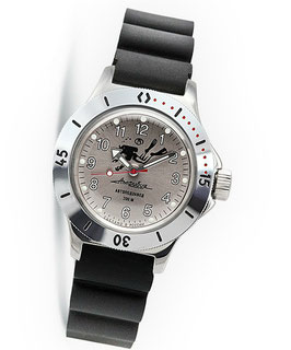 "Russian Automatik diver watch ""AMPHIBIA K-12""  by VOSTOK, 200m water proof, stainless steel, polished, ø40mm"