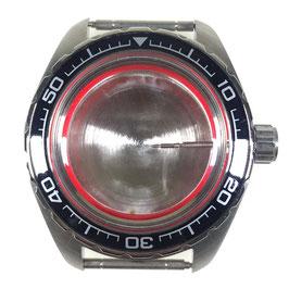 Gehäuse 020 für VOSTOK KOMANDIRSKIE Uhren von VOSTOK, Edelstahl, gebürstet, komplett