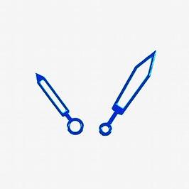 Blaue Plongeur Zeiger mit SuperLumiNova für AMPHIBIA und KOMANDIRSKIE Uhren von VOSTOK