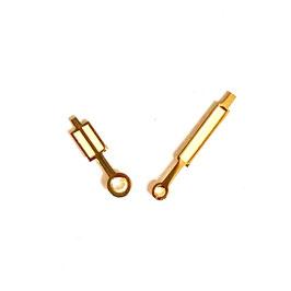 Goldene Paddelzeiger Old Style mit Vintage SuperLumiNova für AMPHIBIA Uhren von Vostok