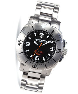 """Automatik diverwatch """"AMFIBIA RED SEA""""by VOSTOK, 200m water proof, stainless steel, brushed, ø42mm"""