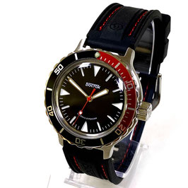 AMPHIBIA automatic watch with sandwich dial by VOSTOK-Watches24, stainless steel, polished, ø40mm