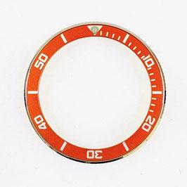 Bezel with orange insert for VOSTOK KOMANDIRSKIE watches, stainless steel, LÜ-INS-65