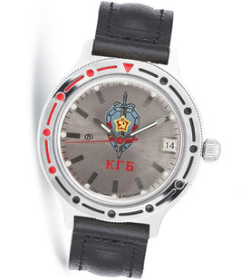 "Russian automatic watch VOSTOK KOMANDIRSKIE ""KGB"" by VOSTOK, polished, ø40mm"