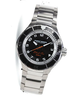 "Automatik diver watch ""AMFIBIA BLACK SEA"" by VOSTOK, 200m water proof, stainless steel, brushed, ø42mm"