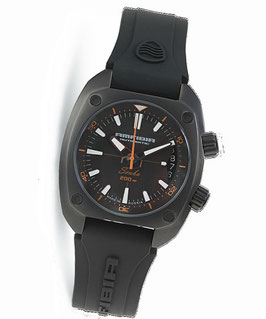 "Automatik diver watch ""AMFIBIA SCUBA"" by VOSTOK, 200m water proof, stainless steel, black PVD coated, ø41mm"