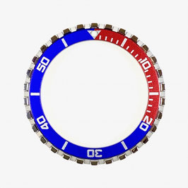 CROWN PEPSI bezel with red & blue insert with silver lettering for VOSTOK KOMANDIRSKIE watches, stainless steel, polished, ø41.5mm, LÜ-INS-41