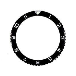 Lünette mit Stundenziffern für VOSTOK AMPHIBIA KOMANDIRSKIE Uhren von VOSTOK, Edelstahl, poliert, schwarz, ø40mm, LÜ-INS-52