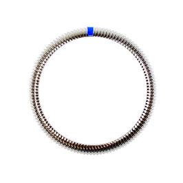 Corrugated SwissChrono bezel (L blau) for Russian VOSTOK AMPHIBIA and KOMANDIRSKIE watches, stainless steel, brushed
