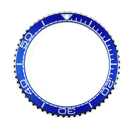 Bezel with blue insert for VOSTOK KOMANDIRSKIE watches, stainless steel, LÜ-INS-11