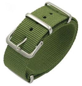 18mm NATO Armband Nylon grün (NATO01-18mm)