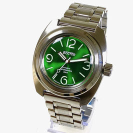 """Russian automatic watch """"AMPHIBIA"""" with sandwich dial and SuperLumiNova and solid stainless steel bracelet by VOSTOK, 200m water proof, stainless steel, brushed, ø42mm"""