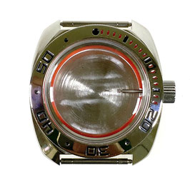 Case 710 for VOSTOK KOMANDIRSKIE watches with polished bezel, stainless steel, polished, complete