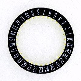 """Datumsring schwarz für alle Vostok Werke, für Uhren mit Datum in Pos.""""6:00"""""""