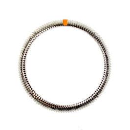 Geriffelte SwissChrono Lünette (L orange) für VOSTOK AMPHIBIA KOMANDIRSKIE Uhren von VOSTOK, Edelstahl, gebürstet