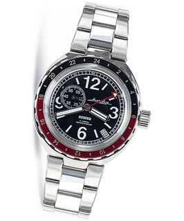 """Russian automatic watch """"AMPHIBIA NEPTUN"""" by VOSTOK, stainless steel, polished, ø40mm"""