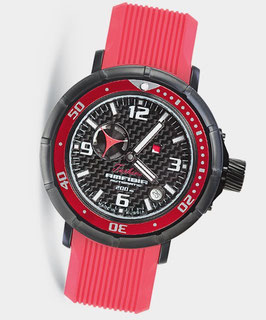 """Automatik wrist watch """"AMFIBIA TURBINA"""" by VOSTOK, 200m water proof, stainless steel, black PVD coated, carbon dial, ø45mm"""