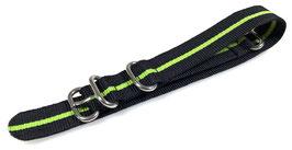 20mm ZULU strap for VOSTOK watches, nylon, black green, ZULU08-20mm