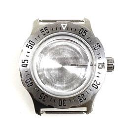 Gehäuse 350 mit für VOSTOK KOMANDIRSKIE Uhren von VOSTOK, Edelstahl, gebürstet, komplett
