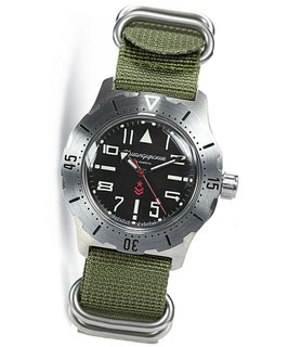"Russian automatic pilots watch ""KOMANDIRSKIE"" by VOSTOK, stainless steel, brushed, ø42mm"