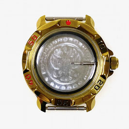 Gehäuse 819 für VOSTOK KOMANDIRSKIE Uhren von VOSTOK, Titannitrid beschichtet, poliert, komplett