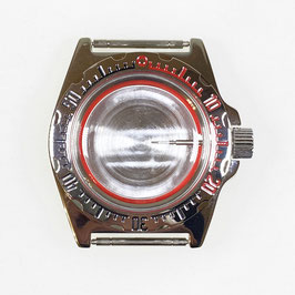 Case 110 for VOSTOK AMPHIBIA watches, stainless steel, polished, complete