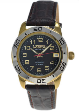 Russian automatic watch VOSTOK PARTNER by VOSTOK, gilded, polished, ø39mm