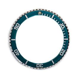 Bezel with real sea blue insert for VOSTOK KOMANDIRSKIE SCUBA DUDE 059 watches, stainless steel, ø40mm