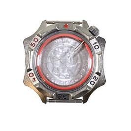 Gehäuse 536 für VOSTOK KOMANDIRSKIE Uhren von VOSTOK, Titancarbonitrid beschichtet, sandgestrahlt, komplett