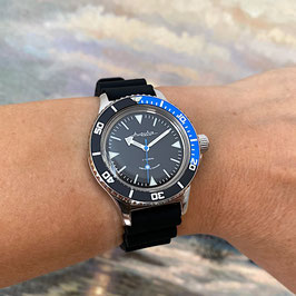"""Russian Automatik diver watch """"AMPHIBIA K-12""""  with SuperLumiNova Sandwich dial and Scuba Dude case back by VOSTOK-Watches24, 200m water proof, stainless steel, polished, ø40mm"""